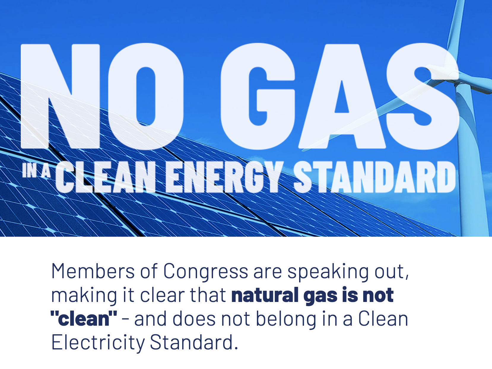 Oil Change U.S. and Partners Launch 'Gas Is Not Clean' Campaign